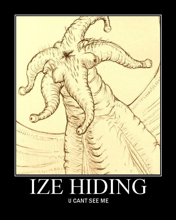 IZE HIDING - U CANT SEE ME